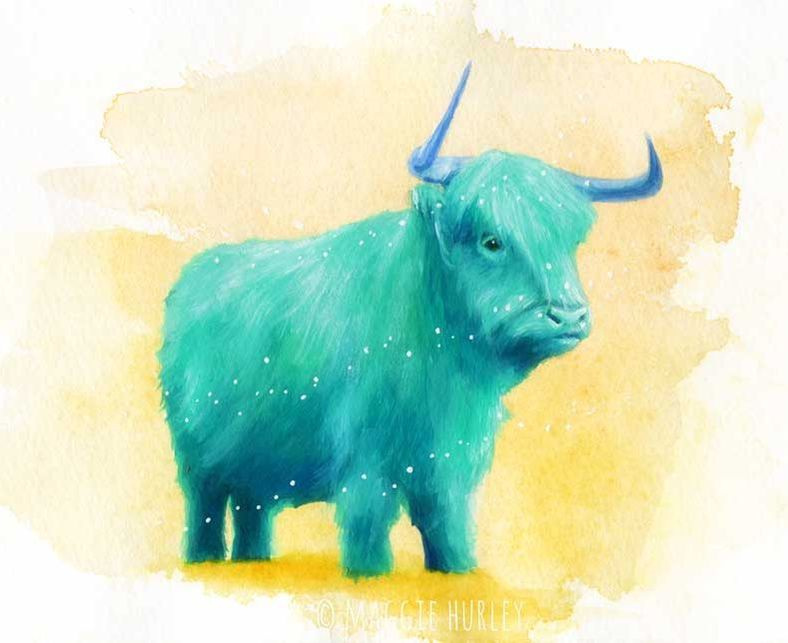 Blue Cow by Maggie Hurley